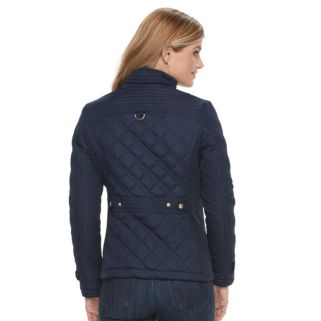 Women's Weathercast Quilted Button-Tab Jacket