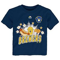 Toddler Majestic Milwaukee Brewers Hotdog & Fries Tee