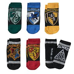 Girls 4-16 Harry Potter 6 pkHogwarts Low-Cut Socks