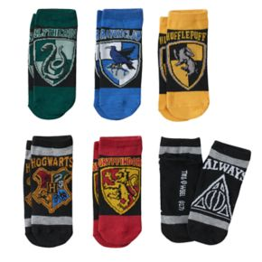 Girls 4-16 Harry Potter 6-pk. Hogwarts Low-Cut Socks