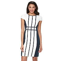 Women's Ronni Nicole Grid Colorblock Sheath Dress