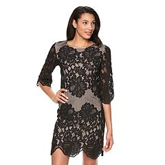 Women's Ronni Nicole Mesh Lace Shift Dress