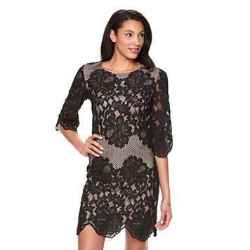 Women's Ronni Nicole Mesh Lace Shift Dress