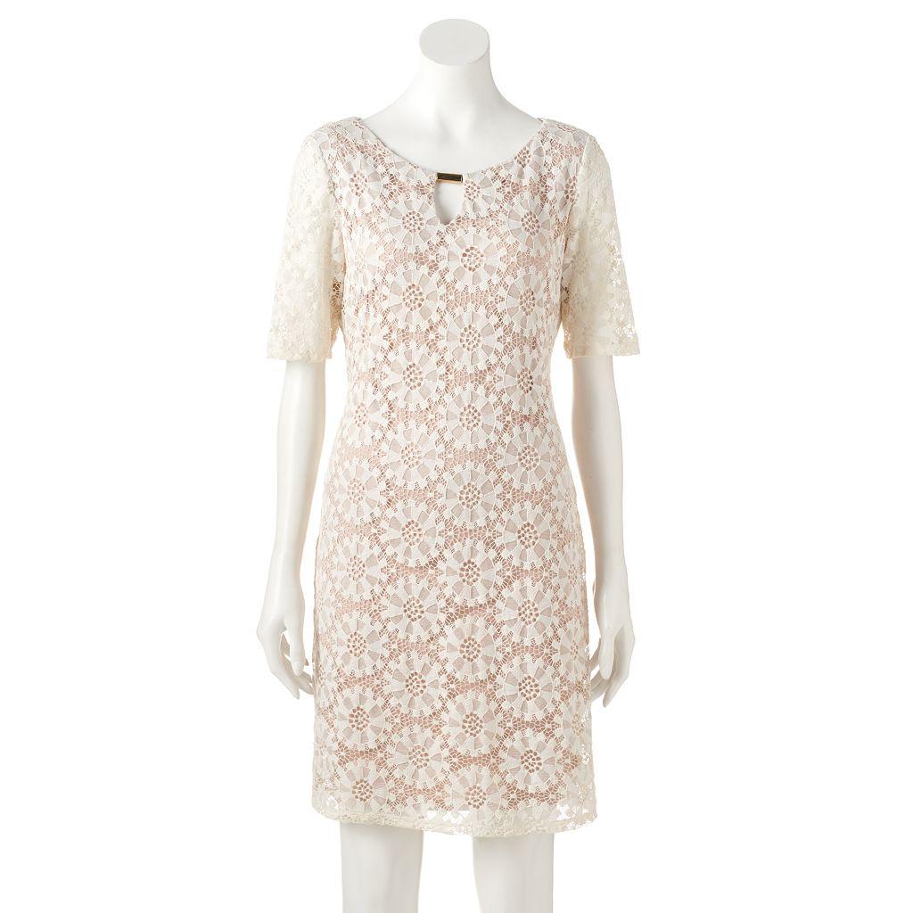 Women's Ronni Nicole Keyhole Lace Shift Dress