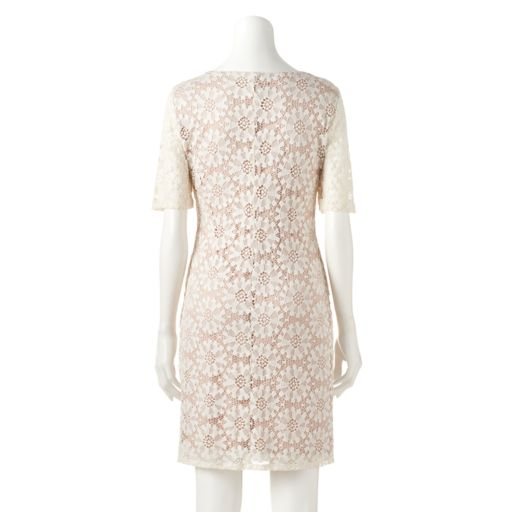 Women's Ronni Nicole Keyhole Lace Shift Dress
