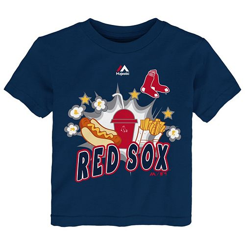 Toddler Majestic Boston Red Sox Hotdog & Fries Tee