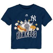 Toddler Majestic New York Yankees Hotdog & Fries Tee