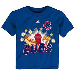 Toddler Majestic Chicago Cubs Hotdog & Fries Tee