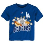 Toddler Majestic Los Angeles Dodgers Hotdog & Fries Tee