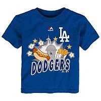 Toddler Majestic Los Angeles Dodgers Hotdog & Fries Tee