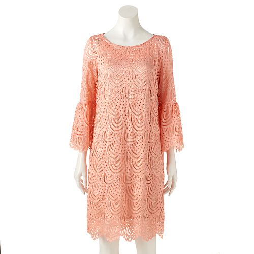 Women's Ronni Nicole Scalloped Lace Shift Dress