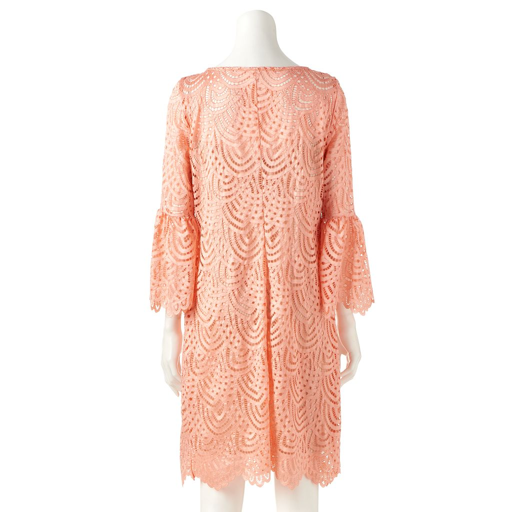 Women's Ronni Nicole Scalloped Lace Shift Dress
