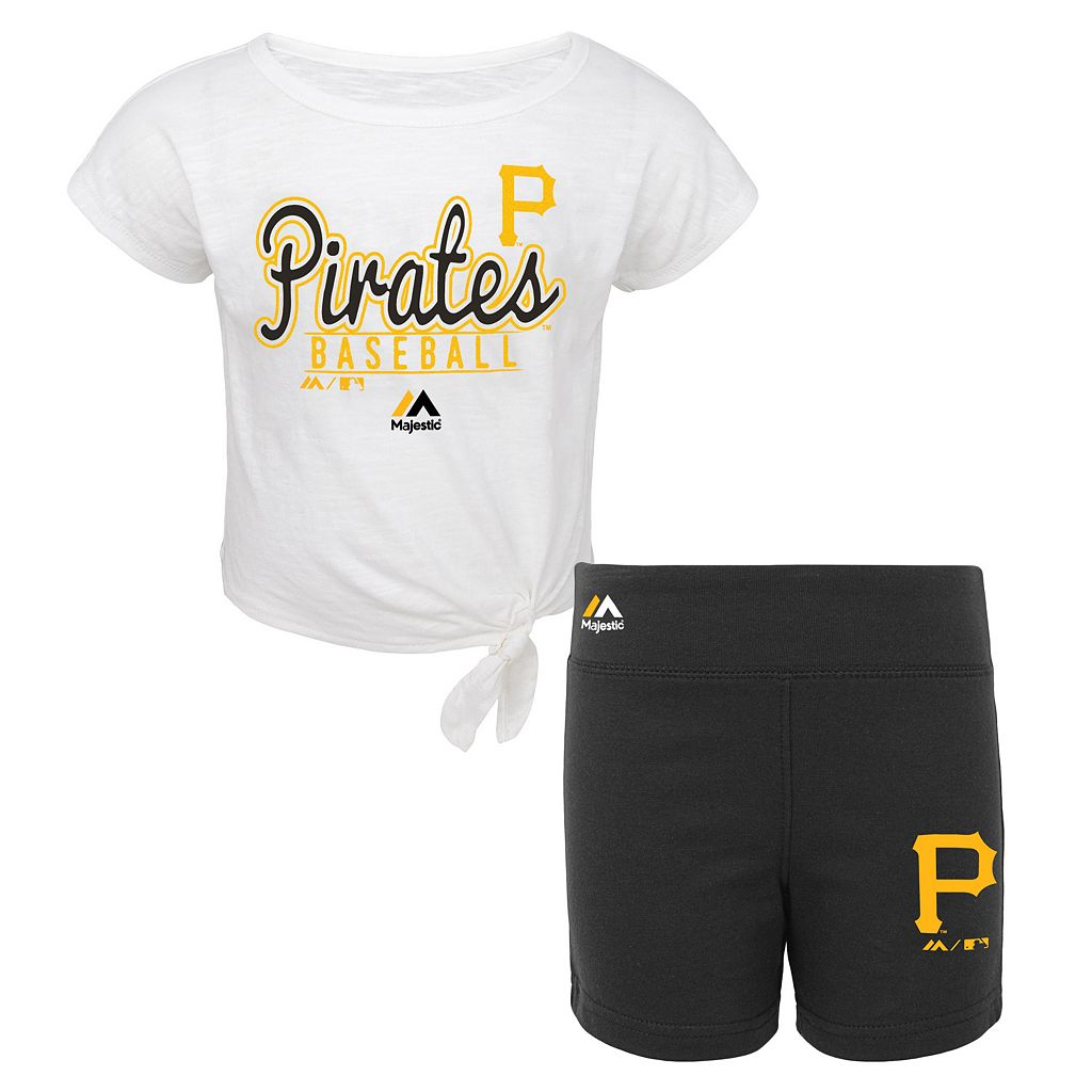 Toddler Majestic Pittsburgh Pirates Tiny Trainer Tee & Shorts Set