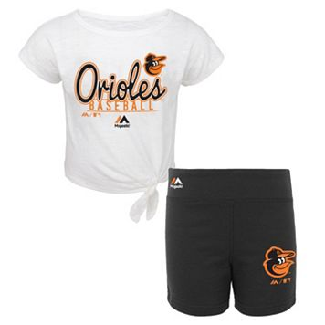 Toddler Majestic Baltimore Orioles Tiny Trainer Tee & Shorts Set