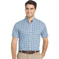 Men's IZOD Advantage Sportflex Regular-Fit Plaid Stretch Button-Down Shirt