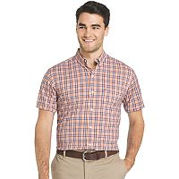 Men's IZOD Advantage Sportflex Regular-Fit Plaid Stretch Button-Down Shirt