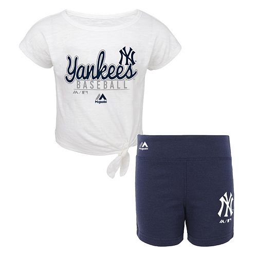 Toddler Majestic New York Yankees Tiny Trainer Tee & Shorts Set