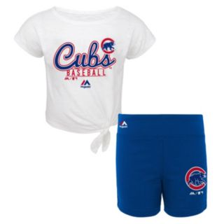 Toddler Majestic Chicago Cubs Tiny Trainer Tee & Shorts Set