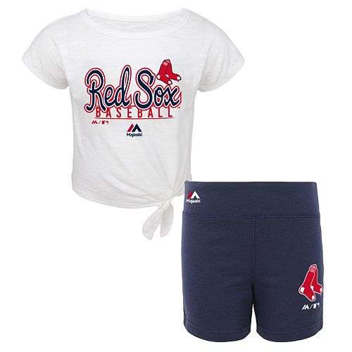 Toddler Majestic Boston Red Sox Tiny Trainer Tee & Shorts Set