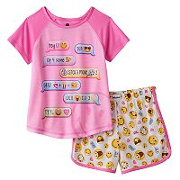 Girls 4-12 Texting Conversation Pajama Set