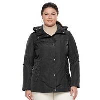 Plus Size Weathercast Hooded Anorak Rain Jacket
