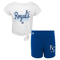 Toddler Majestic Kansas City Royals Tiny Trainer Tee & Shorts Set