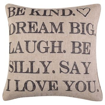 Santa Fe Be Kind Throw Pillow