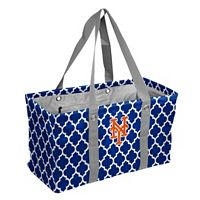 Logo Brand New York Mets Quatrefoil Picnic Caddy