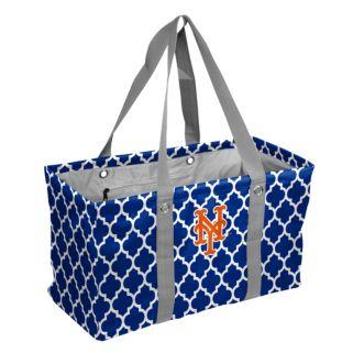 Logo Brand New York Mets Quatrefoil Picnic Caddy