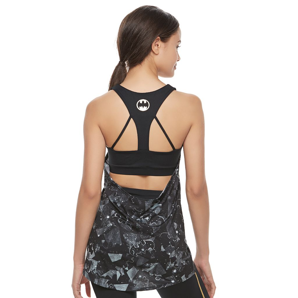Juniors' Her Universe Batman 2-in-1 Sports Bra Graphic Tank by DC Comics