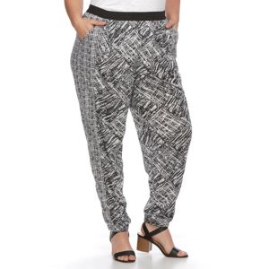 Plus Size French Laundry Printed Soft Pants