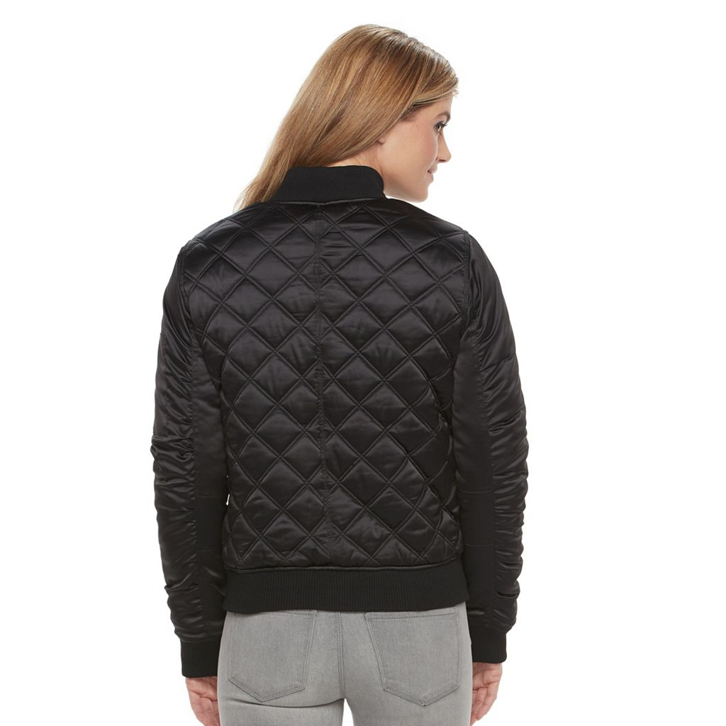 Women's Weathercast Quilted Satin Bomber Jacket