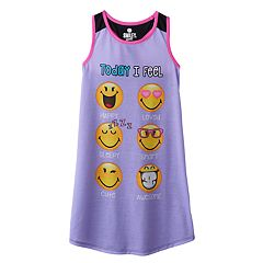 Girls 4-12 Emoji Face 'Today I Feel' Dorm Nightgown