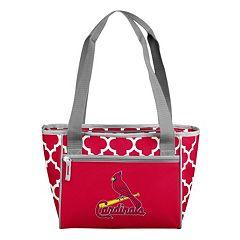 Logo Brand St. Louis Cardinals 16-Can Quatrefoil Cooler Tote