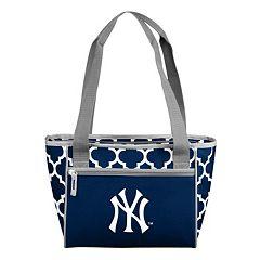 Logo Brand New York Yankees 16-Can Quatrefoil Cooler Tote