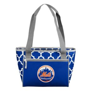 Logo Brand New York Mets 16-Can Quatrefoil Cooler Tote