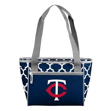 Logo Brand Minnesota Twins 16-Can Quatrefoil Cooler Tote