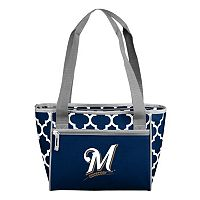 Logo Brand Milwaukee Brewers 16-Can Quatrefoil Cooler Tote
