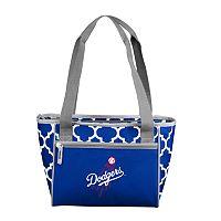 Logo Brand Los Angeles Dodgers 16-Can Quatrefoil Cooler Tote
