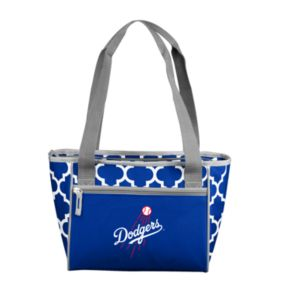 Logo Brand Los Angeles Dodgers 16-Can Quatrefoil Cooler Tote