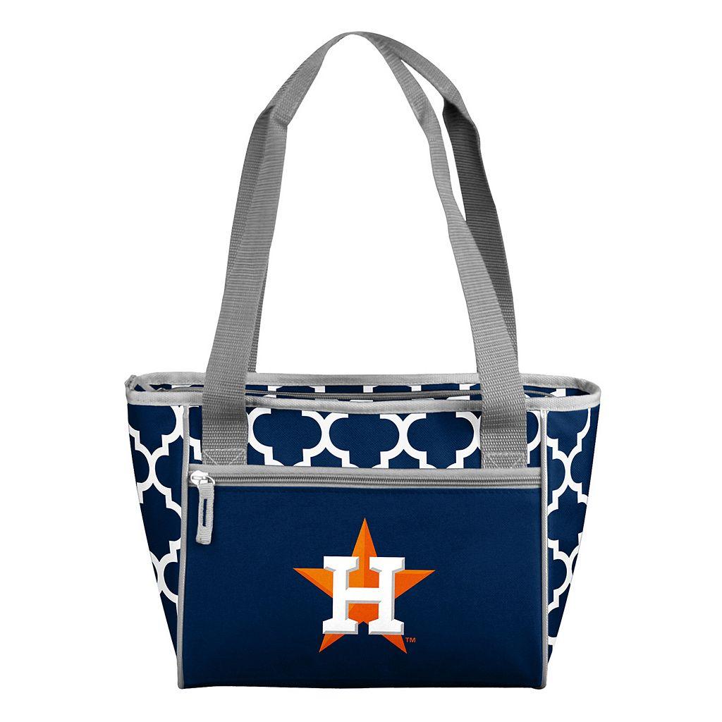 Logo Brand Houston Astros 16-Can Quatrefoil Cooler Tote