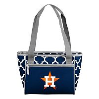 Logo Brand Houston Astros 16-Can Quatrefoil Cooler Tote