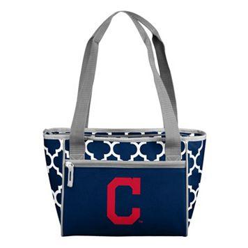 Logo Brand Cleveland Indians 16-Can Quatrefoil Cooler Tote