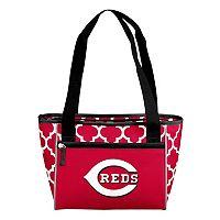 Logo Brand Cincinnati Reds 16-Can Quatrefoil Cooler Tote