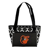 Logo Brand Baltimore Orioles 16-Can Quatrefoil Cooler Tote