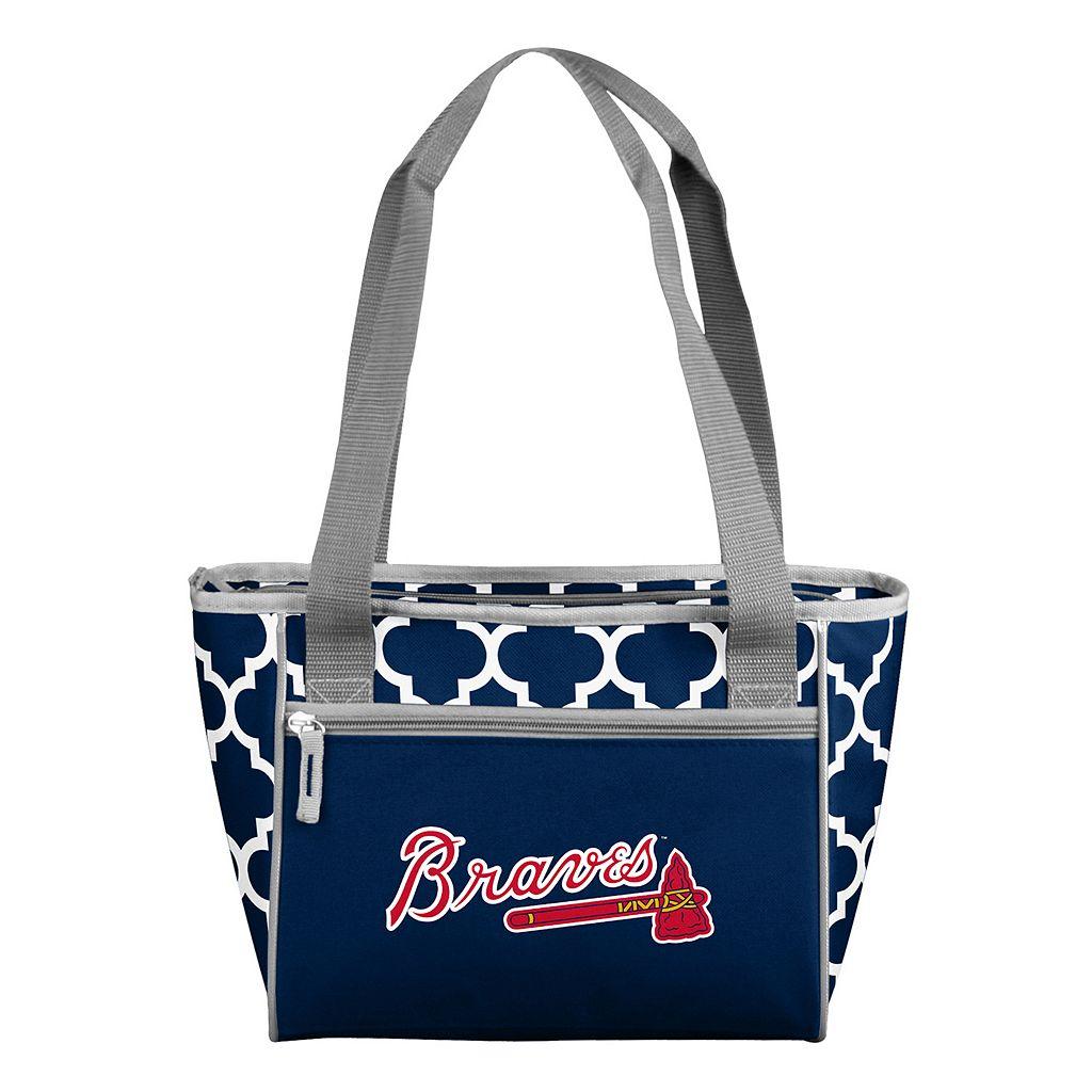 Logo Brand Atlanta Braves 16-Can Quatrefoil Cooler Tote
