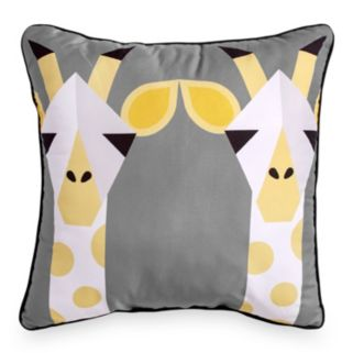 Scribble Giraffe Throw Pillow