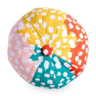Scribble Beach Ball Throw Pillow