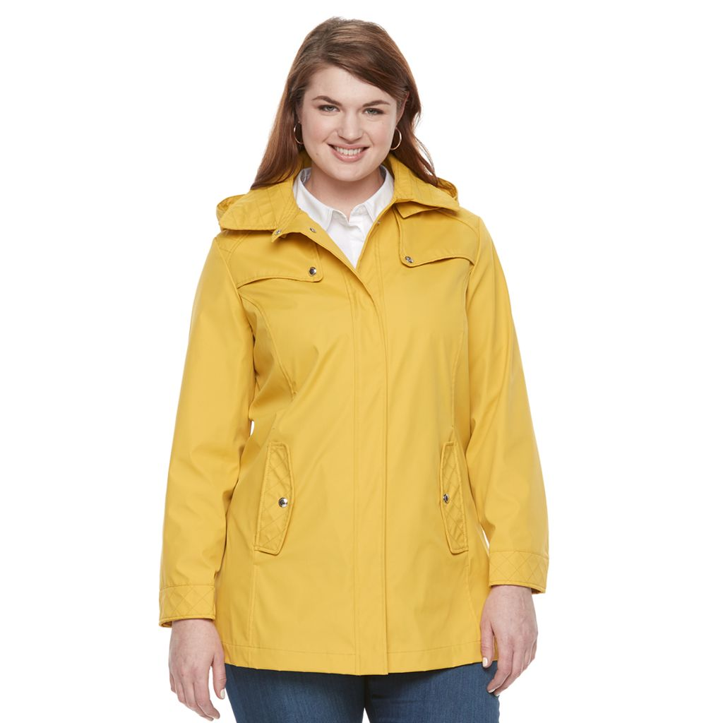 Plus Size Weathercast Hooded Quilted Jacket