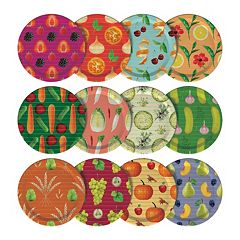 Mortier Pilon Food Graphic Mason Jar Lids 12-pk.